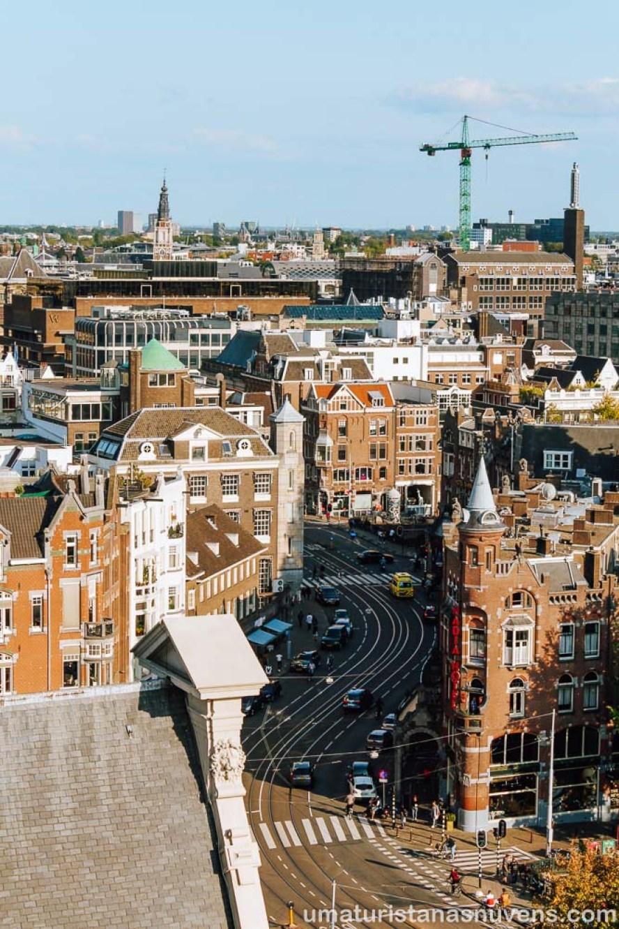vista de Amsterdam do alto da torre da Westerkerk - igreja