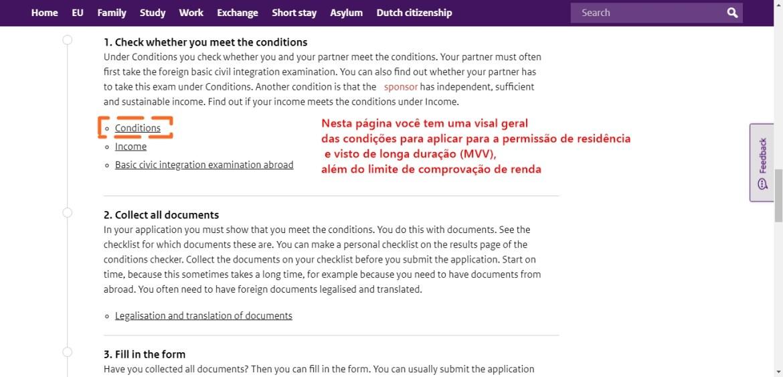 visto de partner para Holanda
