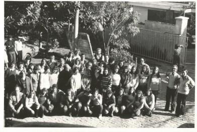 Em frente ao Centro Cultural 25 de Julho na década de 80
