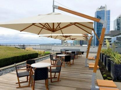 Bambrella Levante Side Wind (offset) Patio Umbrella