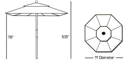 Galtech 183 round patio umbrella