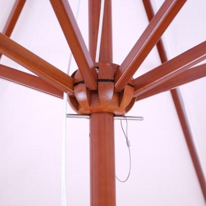 Galtech 132-232 light wood 9 foot round umbrella