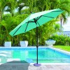 Galtech 737 9′ Round Deluxe Auto Tilt Umbrella
