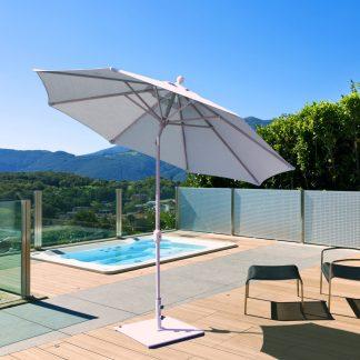 Galtech 738 9′ Round Deluxe Auto Tilt Umbrella