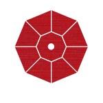 94 Crimson Dupione - Grade A