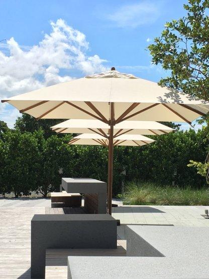 Bambrella Levante Square Bamboo Umbrella