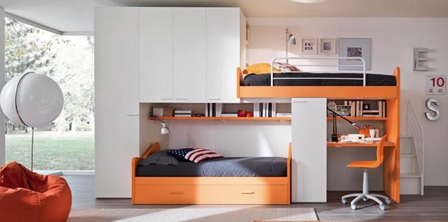 Camerette bambini piccoli spazi blog dedicato al design for Arredamento camerette piccoli spazi