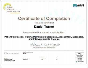 Abbott Certificate
