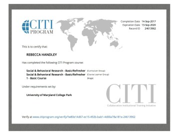 CITI Certification