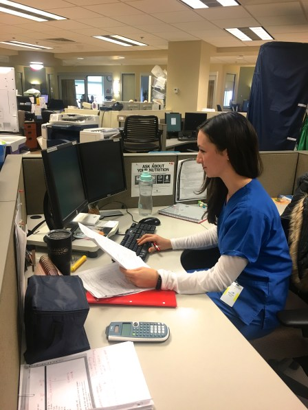My desk in the ICU is open; health professionals can easily find me to ask questions or provide patient updates.