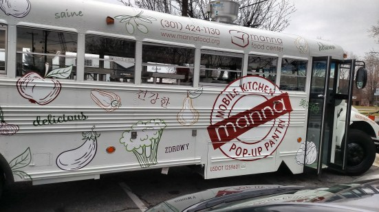 Checking out Manna food bank's mobile kitchen and pop-up pantry, Manny!