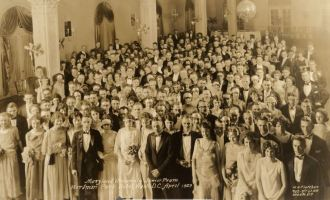 Junior Prom 1923, at the Wardman Park Hotel in D.C.