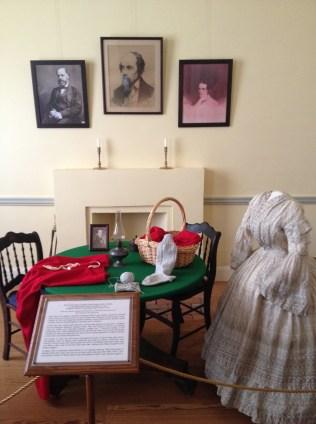Display in the Civil War exhibit