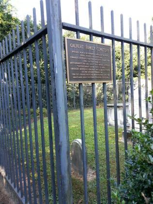 A plaque commemorating Charles Benedict Calvert