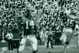 Reich looks to pass, 1984.