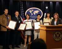 Young Macedonian Students Tour State Department