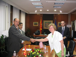 U.S. Ambassador and Macedonian Minister of Culture Sign Grant for Cultural Preservation