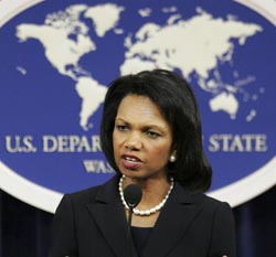 Secretary Rice: Name Should Not Get In The Way of NATO Membership