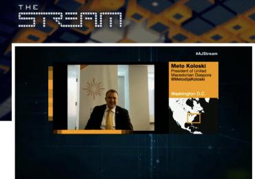 UMD Tackles Macedonia Political Crisis on Al-Jazeera