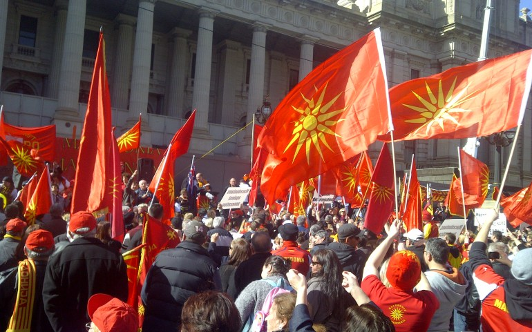 "Australian Macedonians Reject ""N****"" Macedonia"