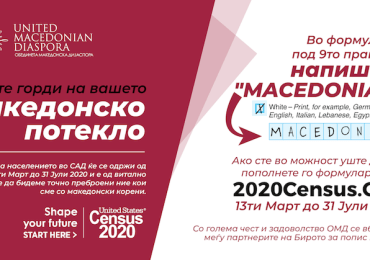 Време е! И Македонците се важни: Американски попис 2020