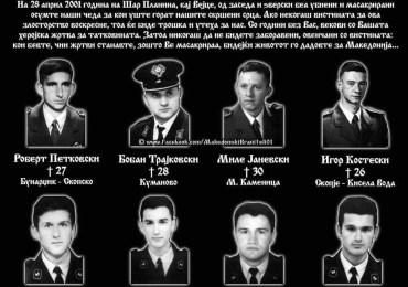 20th Anniversary of the Vejce Massacre Terrorist Attack in Macedonia