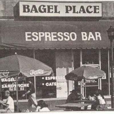 The Bagel Place sports the best java, but its bagels don't quite match up. Michael Schoenberg/Mitzpeh.