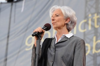 WASHINGTON, D.C., - APRIL 18: International Monetary Fund managing director Christine Lagarde performs onstage during Global Citizen 2015 Earth Day on National Mall to end extreme poverty and solve climate change on April 18, 2015 in Washington, DC. (Photo by Richard Chapin Downs Jr./Getty Images for Global Citizen)