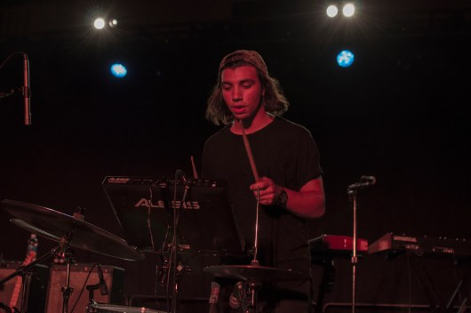 Joey Antico of Todo Mas during their opening performance for BØRNS at Ritchie Coliseum. Joey is a senior jazz performance and music education major. (Cassie Osvatics/Bloc Photographer)