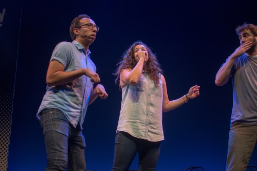 Upright Citizens Brigade brings the crowd to roaring laughter with their improv skills. (Joe Duffy/Bloc Photographer)