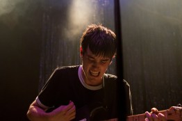 Jake Luppen, lead singer of Hippo Campus, charms fans during their performance opening for Saint Motel at 9:30 Club. (Cassie Osvatics/Bloc Photographer)