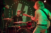 Drummer of The Hunna, Jack Metcalfe (left) and lead vocalist and guitarist, Ryan Potter (right), peform at U Street Music Hall on the Alt Nation Advanced Placement Tour. (Cassie Osvatics/Bloc Reporter)