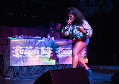 Gangsta Boo, the only female member of the legendary Memphis rap group Three 6 Mafia, performs at Echostage in Washington D.C. on Jan. 19, 2017.