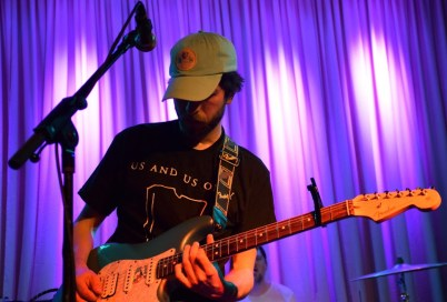 Guitarist Tyler Bussey of The World Is A Beautiful Place & I Am No Longer Afraid To Die plays impressively intricate solos and riffs during the group's near-sold out show at Baltimore's Metro Gallery Sunday, Jan. 29, 2017. (Jordan Stovka/Bloc Reporter)