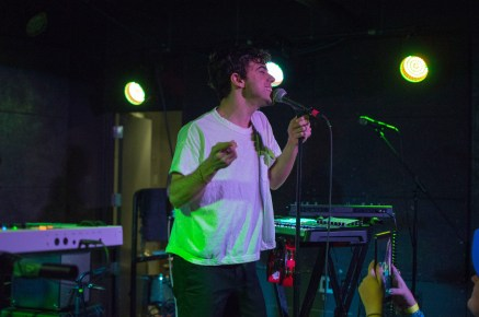 Lead singer of LA band Electric Guest, Asa Taccone, performs at U Street Music Hall in D.C. (Cassie Osvatics/Bloc Reporter)