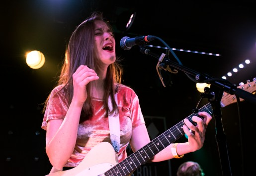 New York City singer/songwriter Margaret Glaspy infused blues and soul with raw distortion guitar playing during her sold-out set at Rock And Roll Hotel Friday night (Jordan Stovka/Bloc Reporter).