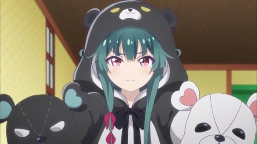 くまクマ熊ベアーアニメ感想4話ロリかわノアちゃんとゴブリンキングの刀1