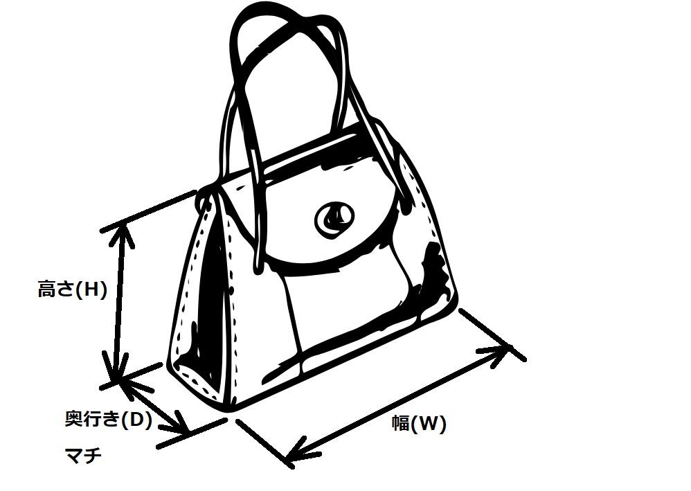 バッグ類のサイズ表記【H・W・D】02