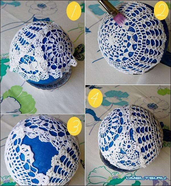 1449008876_shary7 Новогодние шары своими руками: идеи, способы, декор