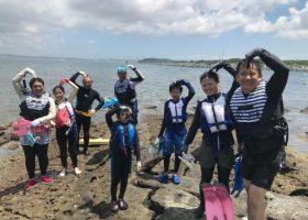 ある日の沖ノ島のシュノーケリング体験したみなさんをご紹介