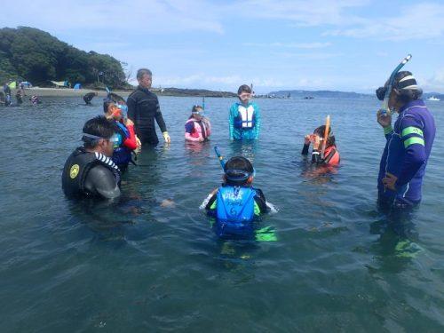 海での練習開始
