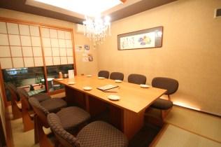 畳とイスの個室席