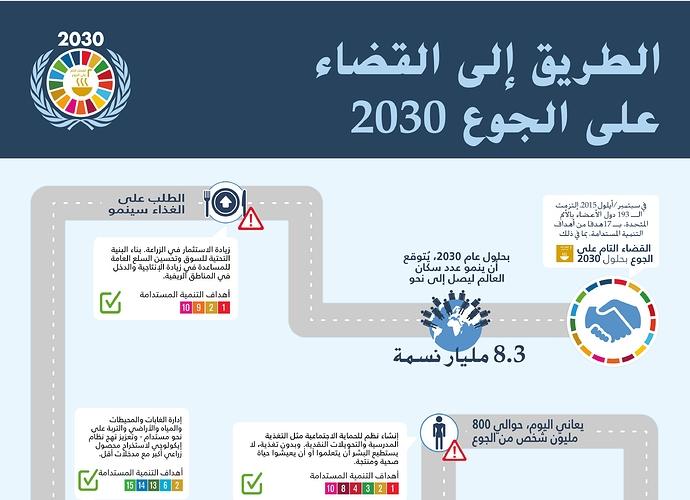 الطريق إلى القضاء على الجوع 2030 | منظمة الأغذية والزراعة (الأمم المتحدة)
