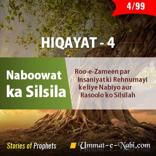 Hiqayat (Part 4) » Nabuwat ka Silsila - Roo-e-Zameen par Insaaniyat Ki Rehnumaayee ke liye Nabiyo aur Rasoolo ko Silsilah