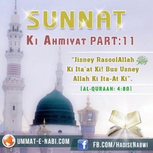 Sunnat Ki Ahmiyat : Part 11