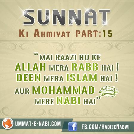 Sunnat Ki Ahmiyat : Part 15
