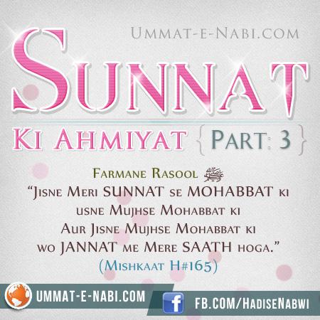 Sunnat ki Ahmiyat: Part 3