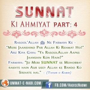 Sunnat ki Ahmiyat: Part 4