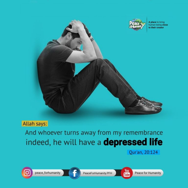 And whoever turns away from my remembrance. indeed, he will have a depressed life. [ #Quran 20:124 ] #IslamicQuotes  #Hadith #DailyHadith #HadithoftheDay