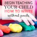 Teach your kids how to write | Pre-writing skills | Activity ideas for writing
